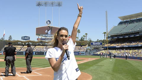 A-list first pitches