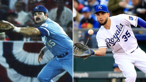 1B: Steve Balboni (1985) & Eric Hosmer (2014)