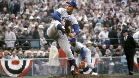 1965: Koufax shuts down the Twins