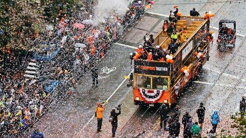 Raining confetti