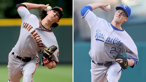 2009: Tim Lincecum, Giants & Zack Greinke, Royals