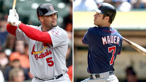 2009: Albert Pujols, Cardinals & Joe Mauer, Twins
