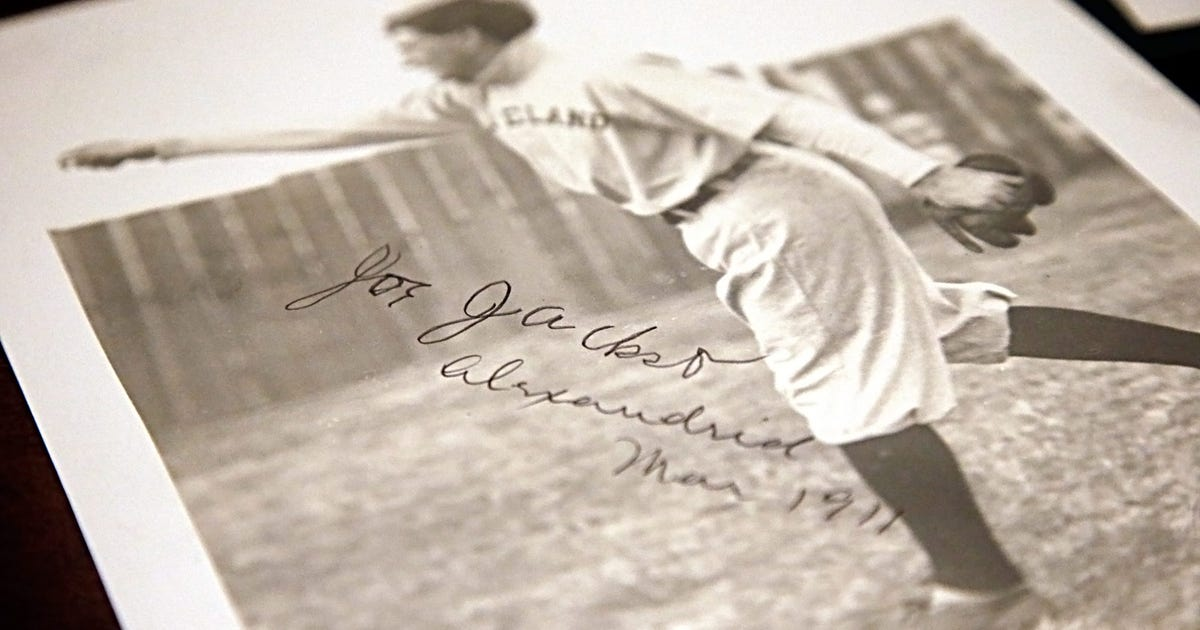 39b4f898ee9 Rare Shoeless Joe Jackson autograph could sell for $100K | FOX Sports