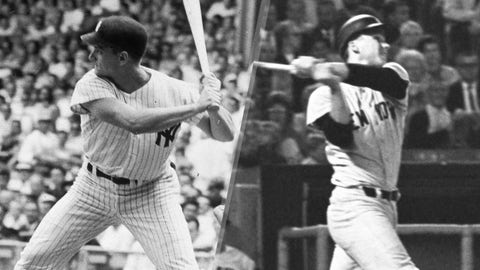 1967: Roger Maris is replaced by Steve Whitaker