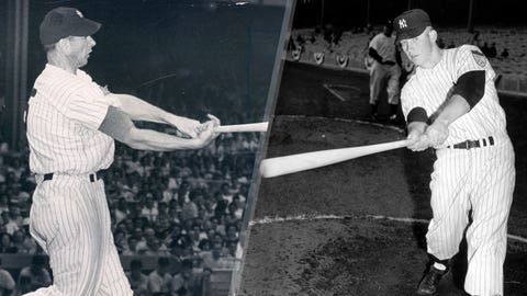 1952: Joe DiMaggio is replaced by Mickey Mantle