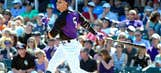Rockies' Gonzalez leaves game with pain in surgically-repaired knee