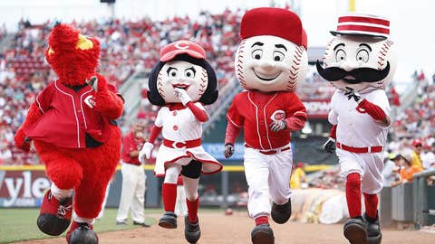 Cincinnati Reds: Mr. Redlegs/Gapper/Rosie Red