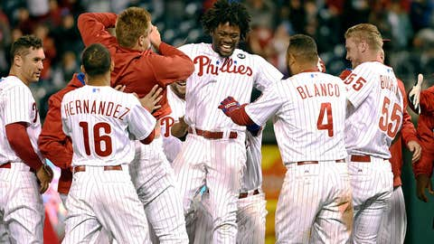 High: Herrera's first big-league hit is a walk-off (4/11)
