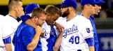 Royals SS Escobar injured by late slide from A's Lawrie