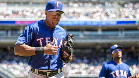 May 31: Beltre's thumb acts up