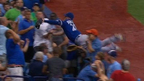 June 24: Donaldson dives into stands