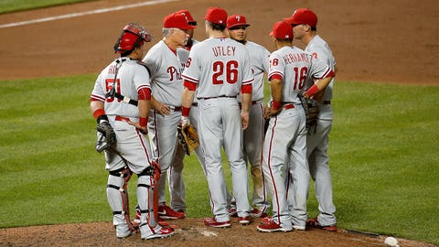 Low: Blowout loss in Baltimore, Utley yells at coach (6/16)