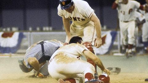 Rose levels Fosse: July 14, 1970, at Riverfront Stadium in Cincinnati