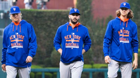 3. The young stars are wearing orange and blue