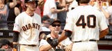 Bochy pondered using Bumgarner as DH: 'He's a legit hitter'