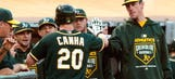 A's rookie Canha fired up after 'awesome' career-best game vs. Dodgers