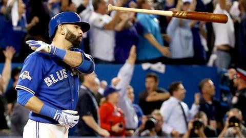 Oct. 14 -- Jose Bautista's bat flip heard round Canada