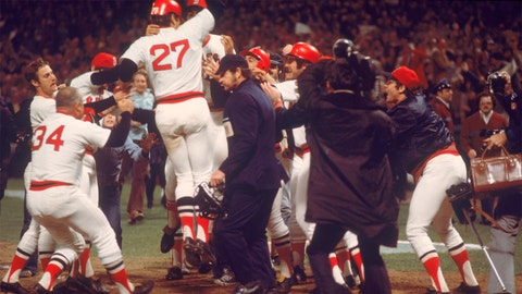 Carlton Fisk. Boston Red Sox vs. Cincinnati Reds, Game 6, 1975: