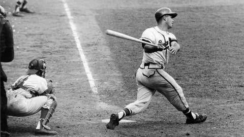 Eddie Mathews. Milwaukee Braves vs. New York Yankees, Game 4, 1957: