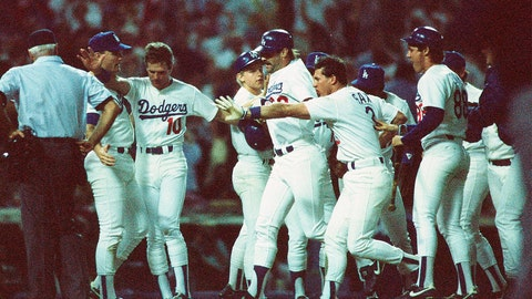 Kirk Gibson. Los Angeles Dodgers vs. Oakland Athletics, Game 1, 1988: