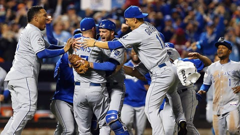 Nov. 1 -- Royals crowned World Series champs