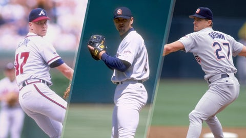 1998 NL: Glavine (99), Hoffman (88), Brown (76)