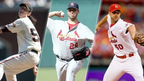 2009 NL: Lincecum (100), Carpenter (94), Wainwright (90)