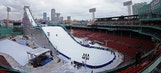 Fenway Park transforms into winter sports park for Big Air ski and snowboarding event