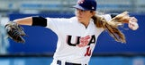 College baseball pitcher Sarah Hudek redefines 'throws like a girl' one win at a time