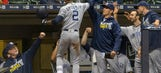 Shields strong, Upton homers and Padres beat Brewers 3-0