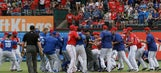 Toronto-Texas feud simmering since playoffs erupts in brawl