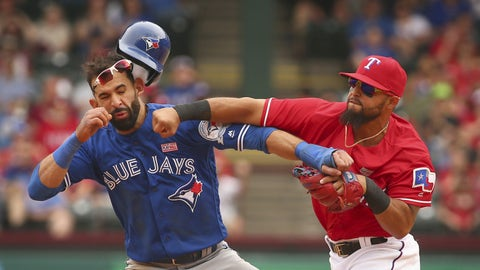 Rougned Odor introduces his fist to Jose Bautista's jaw (May 15)