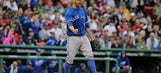 Estrada takes no-hitter into 8th, Jays hold off Red Sox 5-4