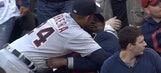 This Indians fan had no interest in Miguel Cabrera's hug