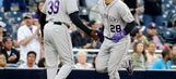 Gray fans 12; CarGo hits 2 2-run HRs in Rockies' 10-3 win