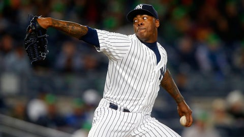 Relief pitcher: Aroldis Chapman, New York Yankees