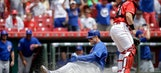 Rizzo legs out inside-the-park HR, Cubs sweep Reds 9-2