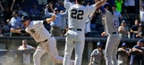 Headley scores on passed ball in 9th, Yankees beat Texas 2-1
