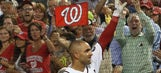 Danny Espinosa celebrates his 7-RBI night by slapping Jayson Werth's face
