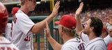 After Strasburg leaves no-hit bid, Nats top Reds 12-1