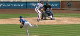 The Mets used Jacob deGrom as a pinch-hitter against the Cubs' catcher
