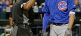Cubs slugger Kris Bryant leaves game with bruised left leg