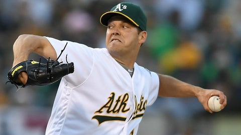 Starting pitcher: Rich Hill, Oakland Athletics
