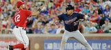 Rosario's home run, four hits lead Twins over Rang