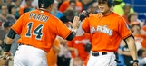 Stanton's homer helps Marlins complete sweep of Reds, 7-3