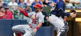 Leake has 10 Ks, Cardinals hit 2 HRs in 5-1 win over Brewers