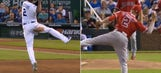 Alcides Escobar, Andrelton Simmons rob each other of hits with incredible plays