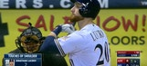 D-Backs broadcasters narrate Lucroy's shoulder touching routine