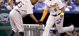 Upton powers Tigers to 6-5 victory over Royals