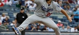 Kershaw nearly perfect for 5 innings, Dodgers beat Yanks 2-0